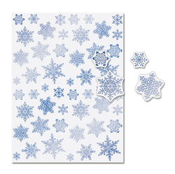 snowflake stickers